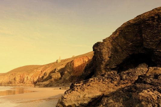 Chapel Porth beach close to Tehidy Holiday Park