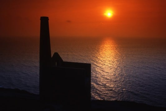 Sunset at St Agnes Tin Mine