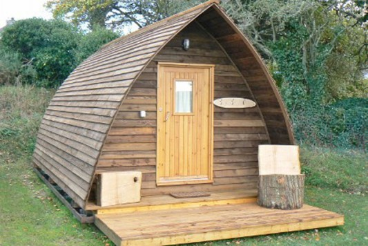 Wigwam Glamping Cabin, Tehidy, Cornwall