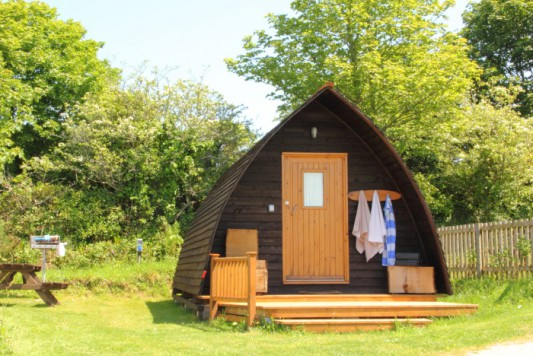 Our wigwam glamping cabins at Tehidy, Cornwall