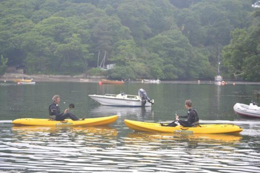 kayaking on the helford estuary