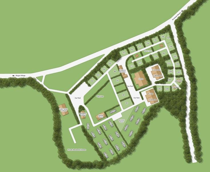 Tehidy holiday park map