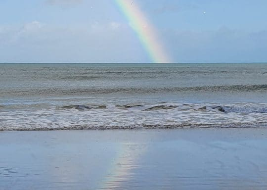 Sea, sand and rainbows in Cornwall